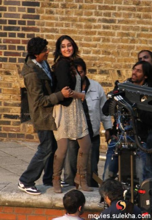Shahrukh and Kareena in Ra.One shooting