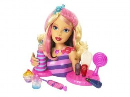 Barbie Candy Glam Style Station Styling Head by Mattel
