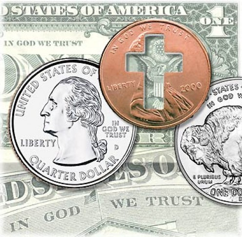 "Omit ""God in US currency"". Don't they trust God anymore?"