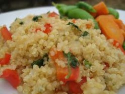 Quinoa and sauteed veggies.