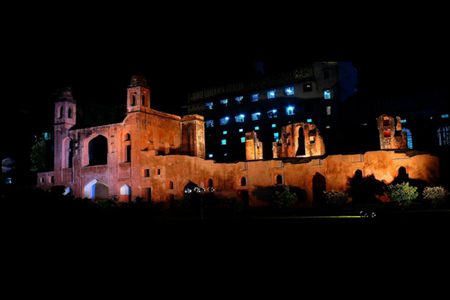 Lalbag fort at night