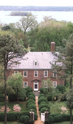 Berkeley Plantation, near Charles City, Virginia, birthplace of William Henry Harrison and Benjamin Harrison.