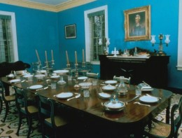 Dining room at the Hermitage.