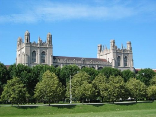 This is one view of the University of Chicago