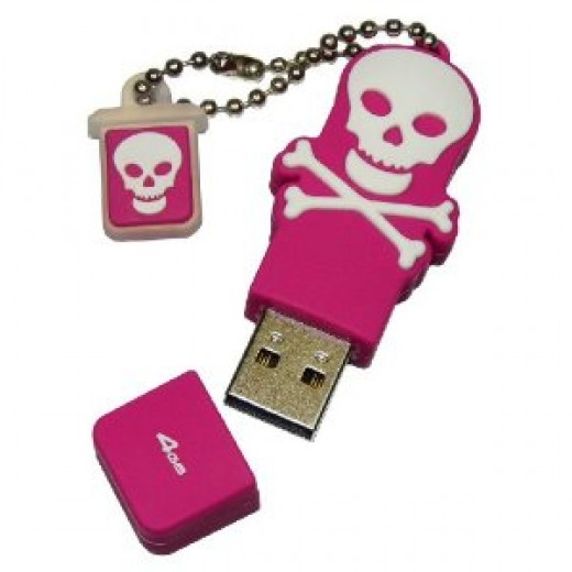 EMTEC Scallywag Series 4 GB USB 2.0 Flash Drive (Available in Black or Pink)
