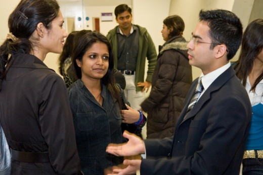 Mahatma Gandhi Scholarship winner Priyanka Raghavan in the centre