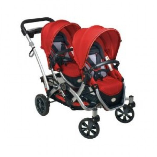 Contours Options Tandem Stroller - Ruby
