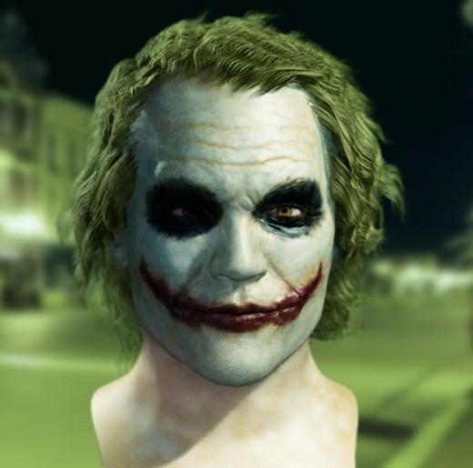 Mens Hairstyles 2011 Joker Face Makeup