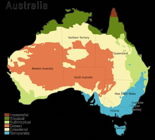 Climate Map Of Australia