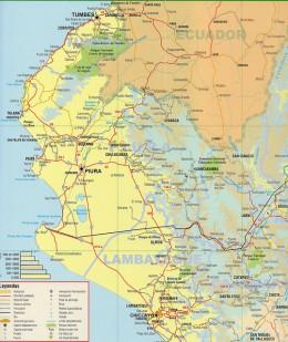 Road Map of Peru