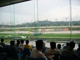 View of course from Upper Grandstand (Level 2)