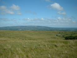 View from the top of Cuilcagh mountain.