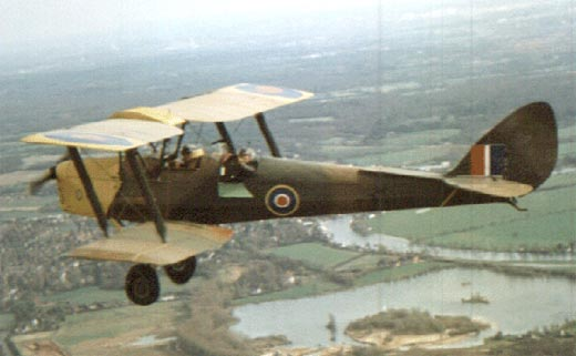 Bryan did his initial flying training on Royal Airforce bi-planes.