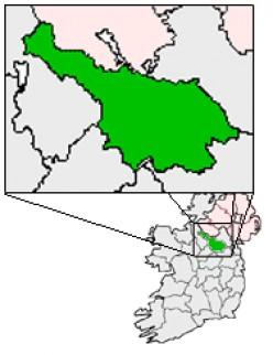 Map location of County Cavan