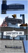 Danforth Avenue's roadsigns