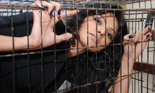 Interesting and Shocking Photoshoot of Bollywood Item Girl Caught in Cage Image 9