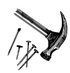 Hammer and Small nails
