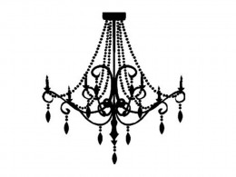 Chandelier 1 Wall Decals Art Stickers Home Decor by EYE CANDY SIGNS