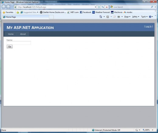 Figure 9 - Your first web application running.