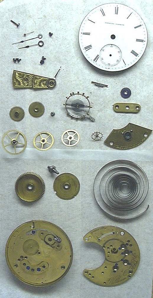 Look at all those pieces!  Our official advice is to let an expert handle your watch repair.  If you insist on doing it yourself, just make sure you have a magnifying glass (and really tiny tools!).