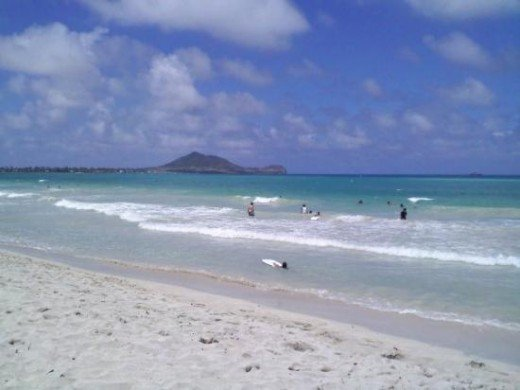 A beautiful beach day in Kailua.
