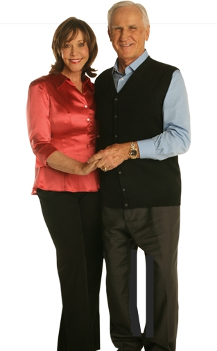 Don and Mary Anne Shula - Don lost 32 lbs and Mary Anne lost 23 lbs. source: Nutrisystem