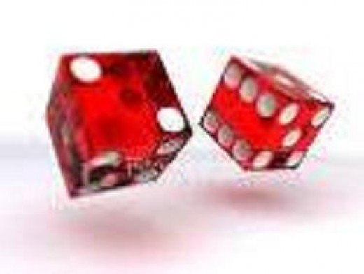red dices lit so brightly