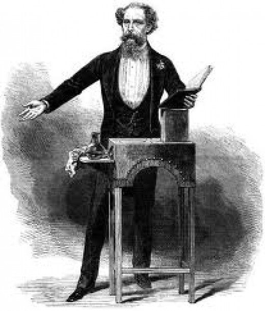 Charles Dickens enthralling his audience.
