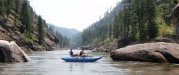 Rafting the Main fork of the Salmon River in July, 2008.