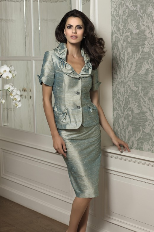 Elgance Metallic Raw Silk Suit 329