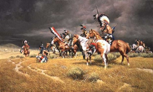 The website is well worth visiting just for the art images. The acquisition of the horse and rifle gave the First Nations a temporary advantage. However, due to the nature of war, giving these weapons out was policy on both sides.