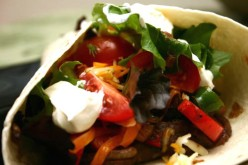 Roasted Vegetable Fajita Wraps Recipe