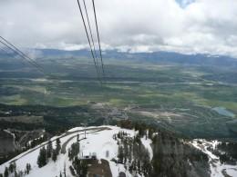 Tram View Near Top of Jackson Hole Ski Resort