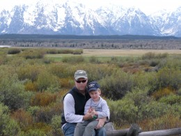 Phil and Son, Grand Tetons