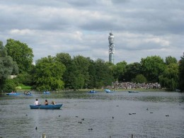 Boating in Regents Park