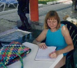 Jean Bakula Writing in Journal