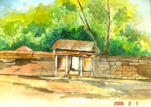 A village home in coastal Karnataka