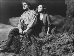 "Heathcliff and Catherine. The obsessed lovers of ""Wuthering Heights"" by Emily Bronte."