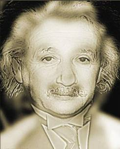 When you look at this picture close range you will see Albert Einstein.  Stand up and take several steps back, roughly 15 feet away OR if you are short-sighted take off your spectacles. It will become... Marilyn Monroe!!