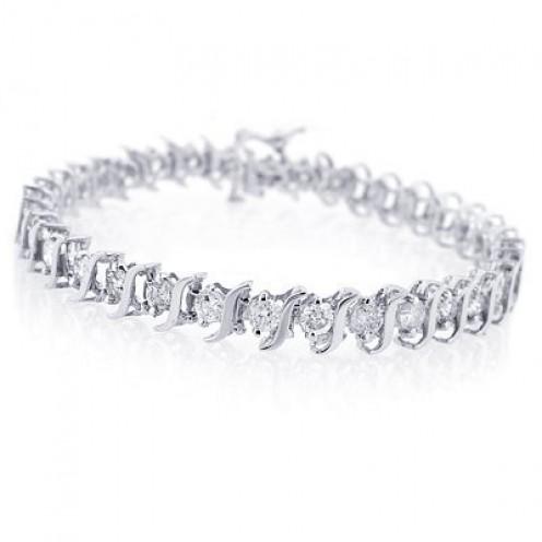 2 DIAMOND TENNIS BRACELETS EACH 5 CARAT TOTAL 10 CARAT WOW SUPER