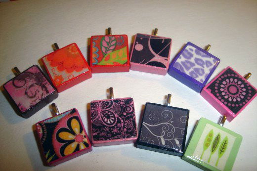 handmade tile pendants