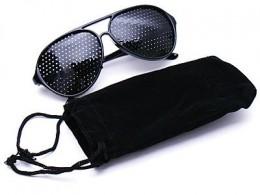 Black Pinhole Glasses that improve vision