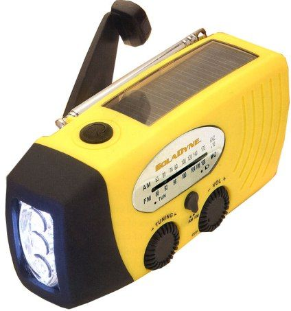 SolaDyne 7410 Radio & Flashlight with Cell Phone Charger