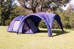 Diamantina Escape Mono Tent and Diamantina Escape Gazebo together to create added living space