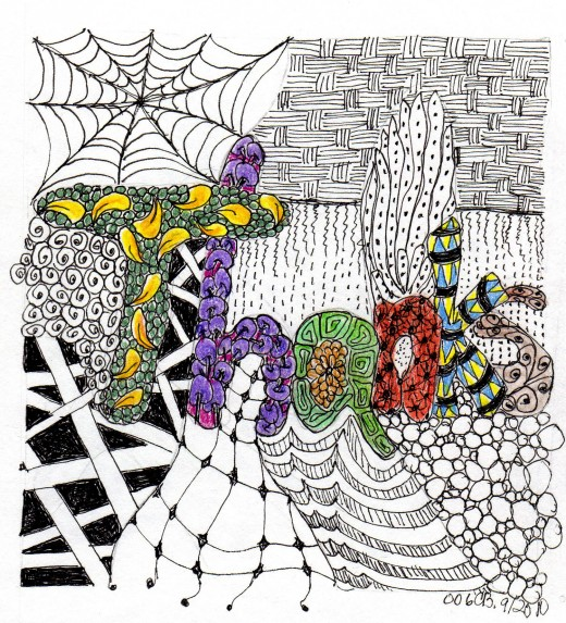 Thank You Card Zentangle