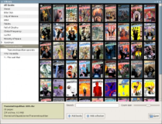 a sample of a library of comic books