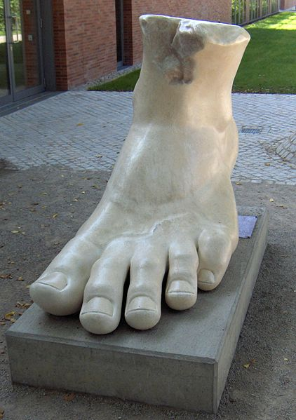Trim your toe nails straight across (Foot of the Colossal Statue of Constantine)
