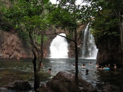 A cool place for a dip on a stinking hot day.