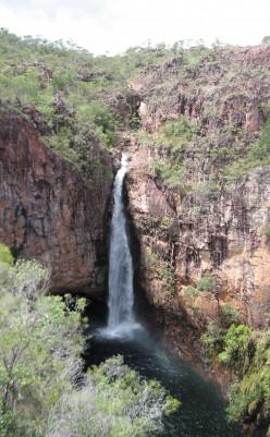 Long drop at Tolmer Falls
