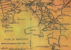 19th century civil war map of Uruguay, showing Cerro's location, left